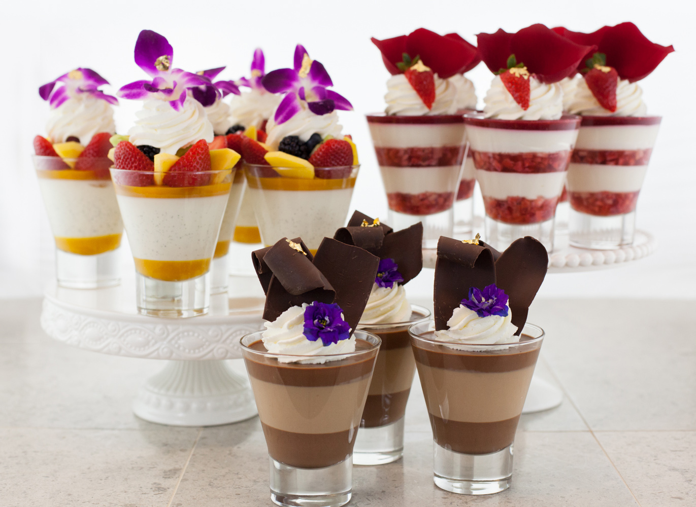 GLASS FILLED DESSERTS